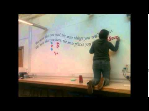 Dr Seuss Time Lapse Mural YouTube