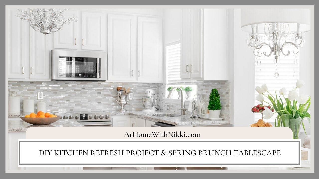 Kitchen Diy Refresh And Spring Brunch Plus Blinds Com Review Youtube