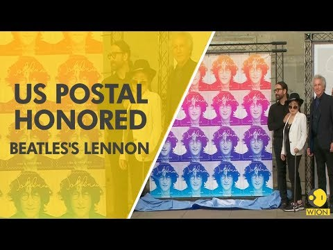John Lennon honored with postage stamp