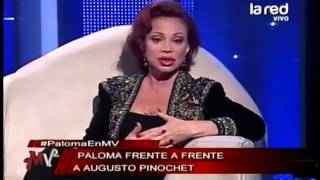 Paloma San Basilio opina sobre Michelle Bachelet y Augusto Pinochet