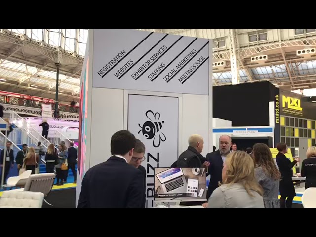 Double Sided LED Video Wall Exhibition Stand for LIVE BUZZ @ Confex 2019 by London Audio Visual Ltd