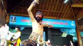 Amazing Reog Ponorogo dance group in action. A Warok dance