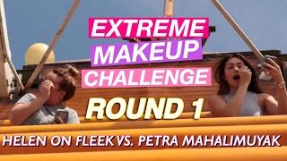 EXTREME MAKEUP CHALLENGE ft. Petra Mahalimuyak ROUND 1 - EYESHADOW   HelenOnFleek