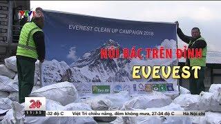 Núi rác trên đỉnh núi cao nhất thế giới Everest   VTV24