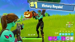 NEW FORTNITE UPDATE 1.8 - ALL HALLOWEEN SKINS, PUMPKIN LAUNCHER, & SKINS! (Fortnite Battle Royale)