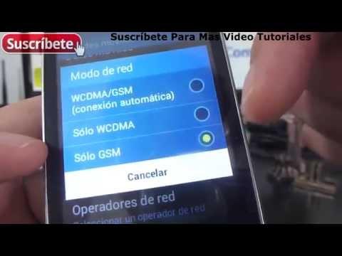 Samsung Galaxy Pocket 2 activar y desactiva la red 2g y 3g español