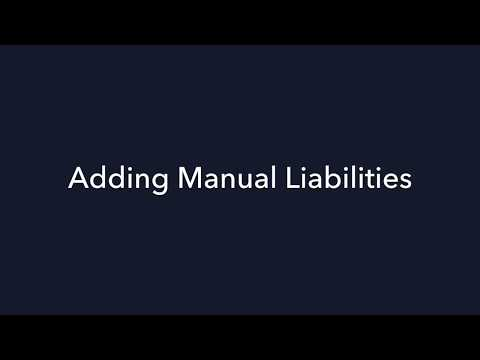 Onist tutorial - How to add assets & liabilities