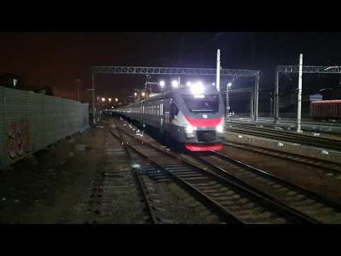 Прибытие в Подольск, электропоезд ЭП2Д-0021