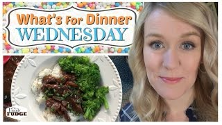 MONGOLIAN BEEF in the Slow Cooker || What's For Dinner Wednesday? || How to Make