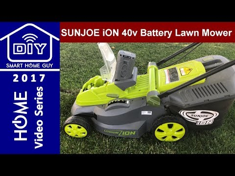 SunJoe iON (ion16lm) 40 Volt 16 inch Cordless Battery Powered Lawn Mower