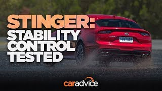 Will the Kia Stinger drift? Stability control tested!
