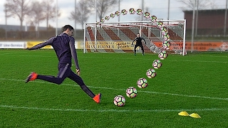 freekickerz vs Aubameyang vs Lewandowski - Football Challenges