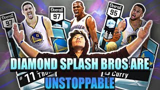 STEPHEN CURRY HALF COURT BUZZER BEATER! THE SPLASH BROTHERS DONT MISS! NEW CURRY & KLAY! NBA 2K17