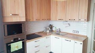 Дизайн кухни 9 кв м  П-44Т (панельный дом) || ♥ Ремонт квартиры #1  ♥ Анастасия Латышева