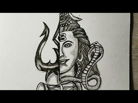 How To Draw Lord Shiva Easy Step By Step Shiva Drawing 2020 Youtube