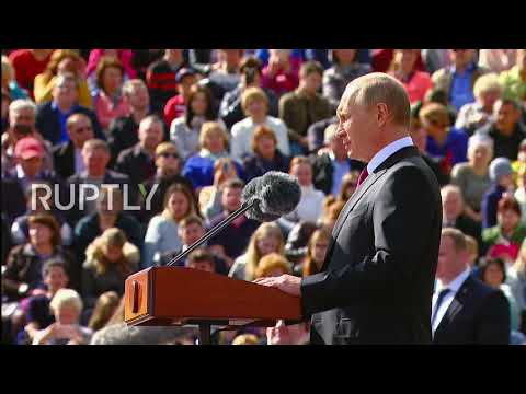 Russia: Putin congratulates Muscovites during Moscow City Day celebrations
