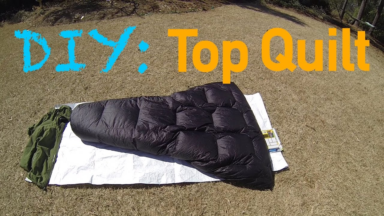 Diy Gear Down Top Quilt For Ground Use Youtube