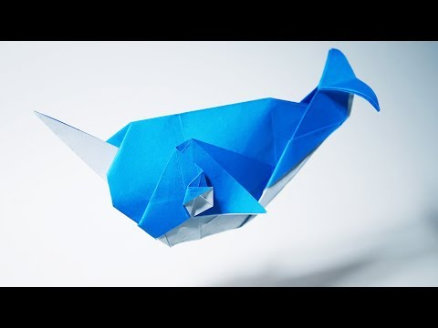 Origami Narwhal (Ryan Dong) - Paper Folding / Papier Falten / 종이접기 / Paper Crafts / おりがみ