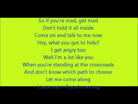 Glee - I'll stand by you lyrics