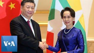 Chinese President Xi Welcomed by Myanmar Leaders