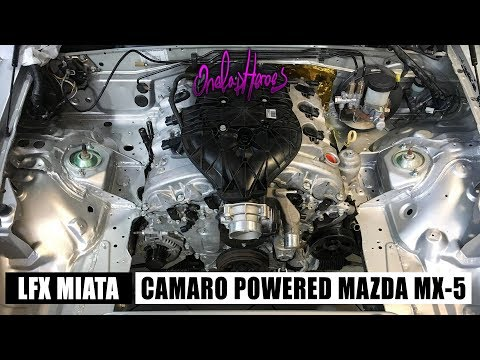 LFX V6 MIATA] Camaro Engine First Start Up - Ep  2 - YouTube