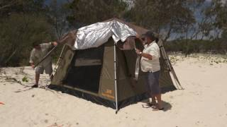 Wanderer 300 Extreme Tent - BCF & Coleman Instant Up Gold 6PV Dark Room Tent - Video overview manual ...