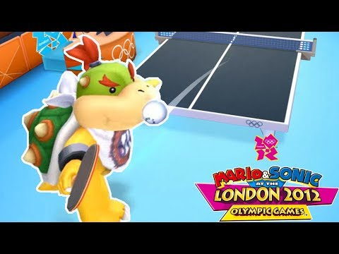 Mario & Sonic At The London 2012 Olympic Games Table Tenis #18 With Bowser Jr. (COM Hard) Gameplay