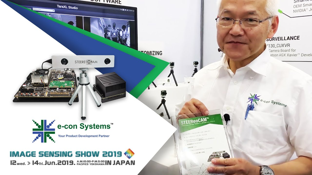 Demo : STEEReoCAM™ - 3D MIPI Stereo Camera for NVIDIA Jetson Xavier/TX2 at  ISS2019 | e-con Systems