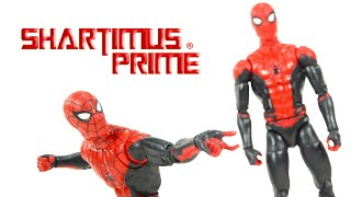 Marvel Legends Spider Man Far From Home Upgrade Suit Custom Action Figure Review