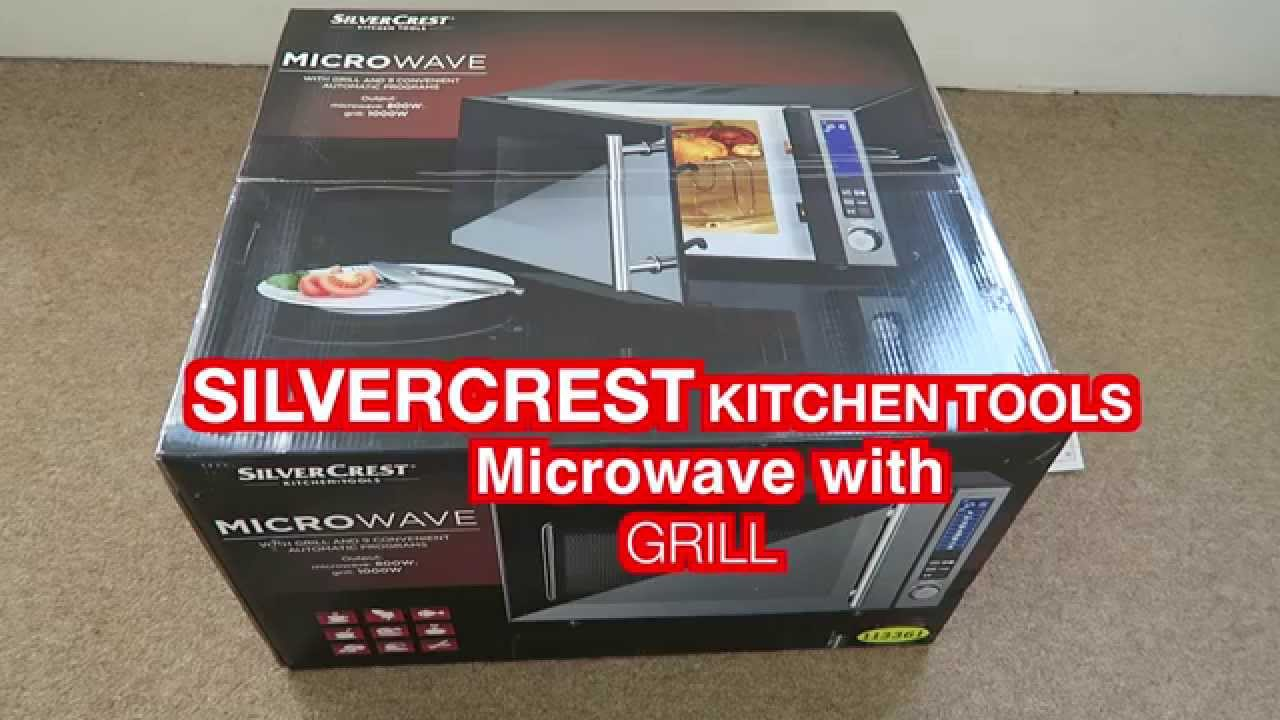 silvercrest kitchen tools microwave with grill from lidl. Black Bedroom Furniture Sets. Home Design Ideas