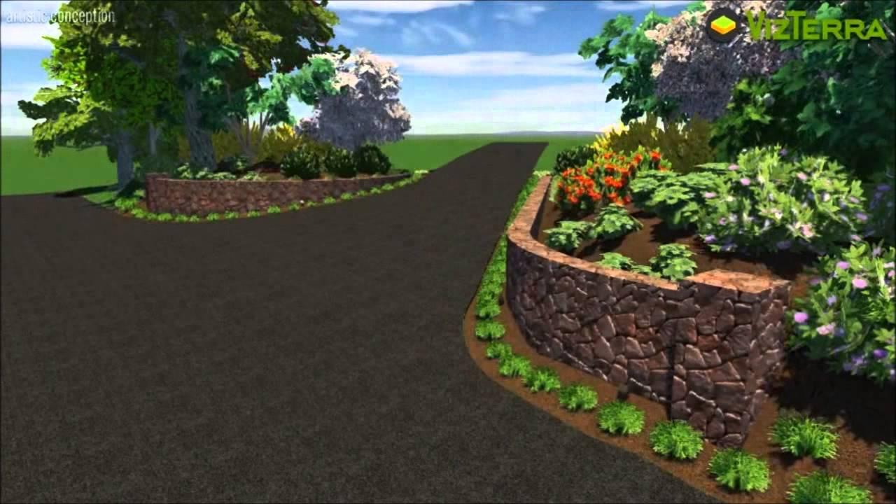 driveway entrance landscape design