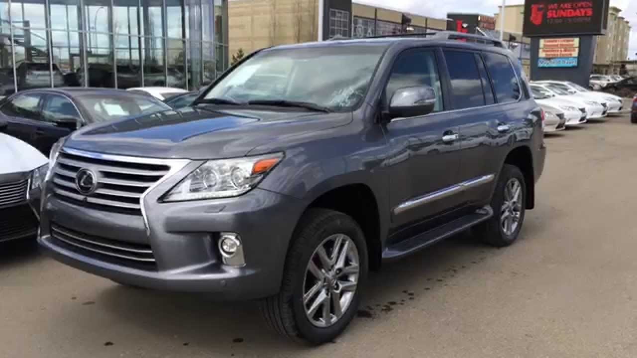 2014 Lexus LX 570 4WD - Ultra Premium Package Review - Gray on Saddle Tan