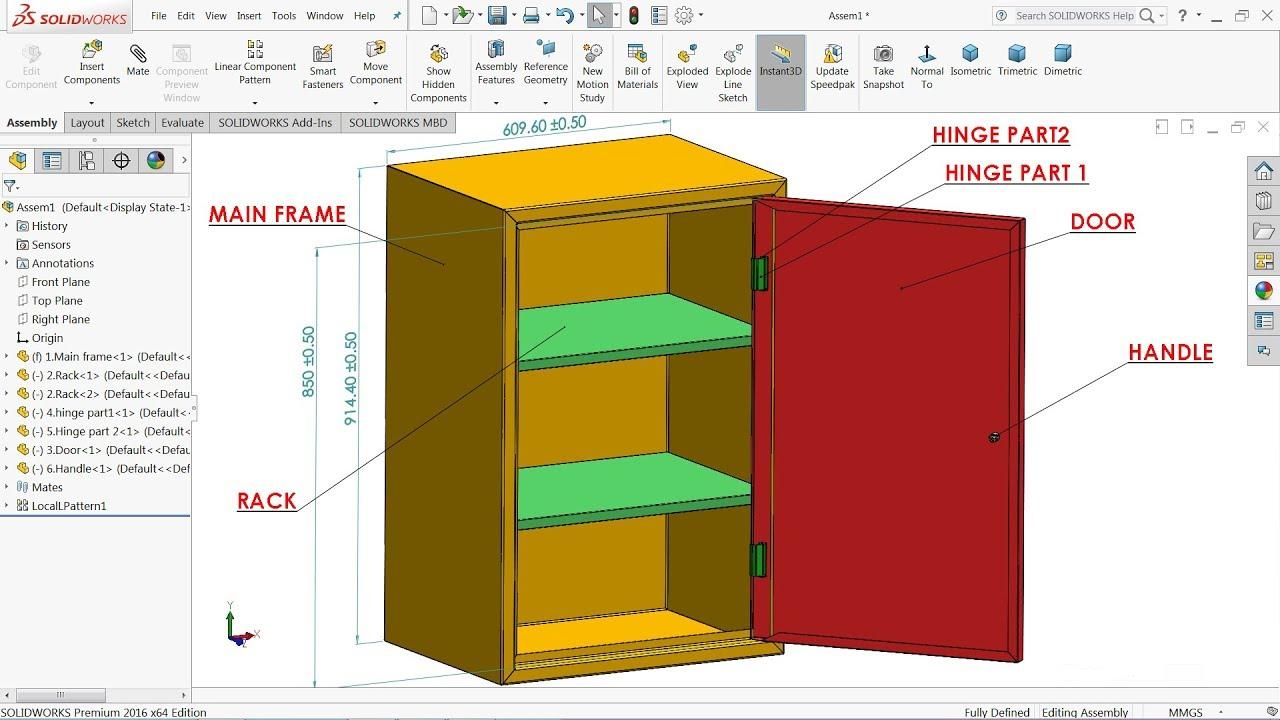 Solidworks Tutorial Design Of Steel Almirah In