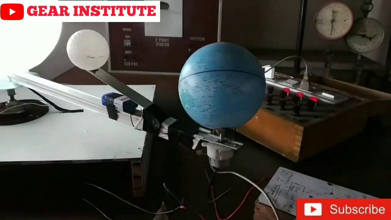how to make a working model of solar eclipse