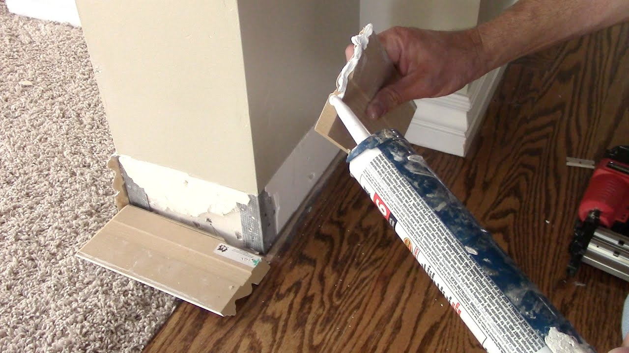How To Remove And Replace Damaged Baseboards Youtube