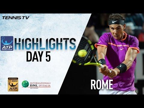 Highlights: Nadal Djokovic Isner Raonic Advance Thursday In Rome 2017