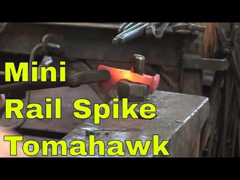 Forging the mini railroad spike tomahawk - blacksmith challenge - part 1