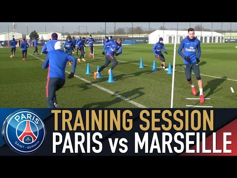 TRAINING SESSION - ENTRAINEMENTS avant PARIS SAINT-GERMAIN vs MARSEILLE
