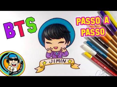 Como Desenhar O Jimin Do Grupo Bts Estilo Chibi Kawaii Youtube