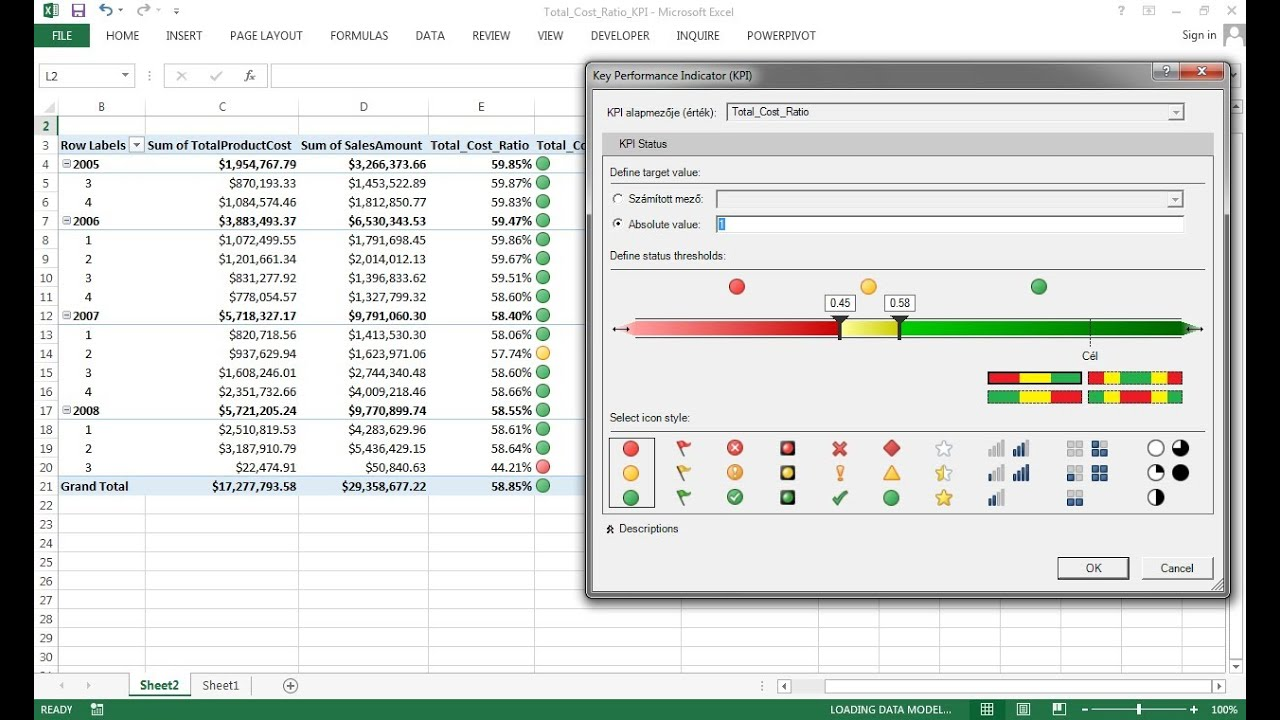 Building kpi dashboard with sql and excel 2013 powerpivot youtube pronofoot35fo Images