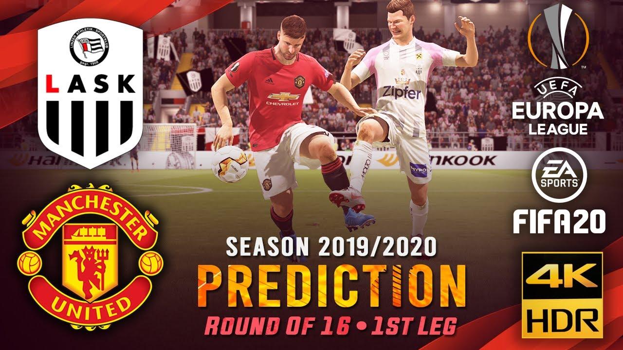 LASK vs Manchester United | FIFA 20 Predicts: Europa League ● Round of 16 ● 1st Leg