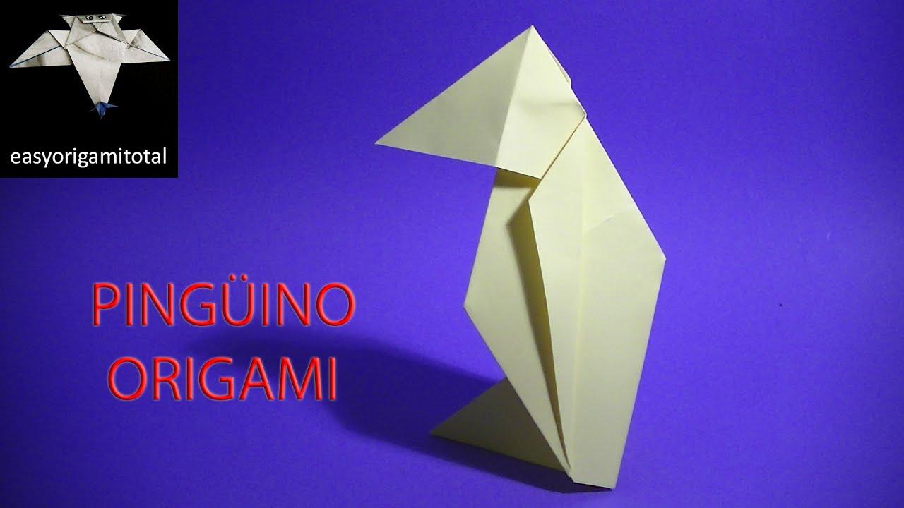 Como hacer  un pingüino en origami