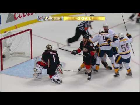 Pontus Aberg Scores Beautiful Diving, Game Winning Goal- Predators vs. Ducks Game 5