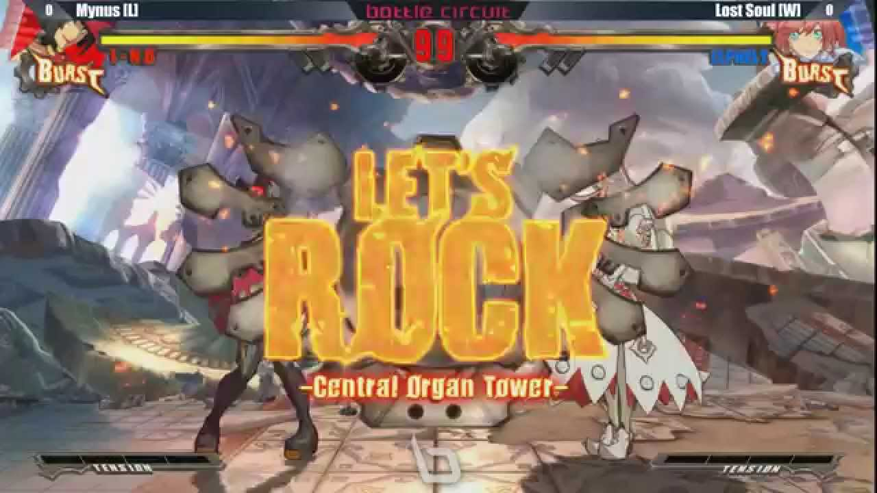 Next Level Battle Circuit 145 - GGXRD - Grand Final - Mynus (I-No) vs Lost Soul (Elphelt)