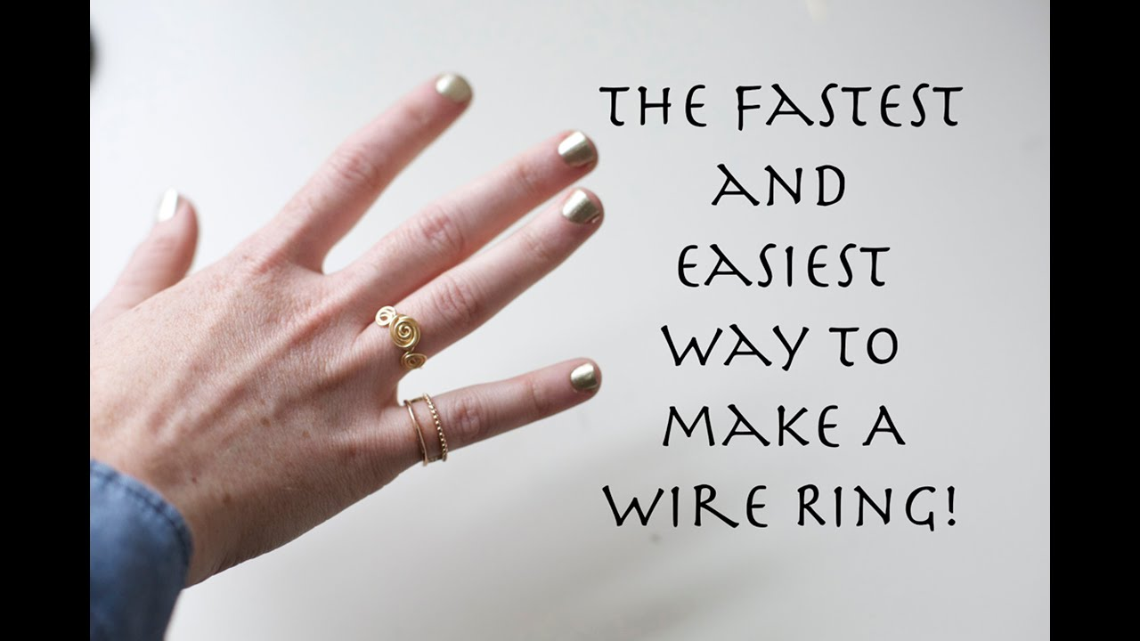 Easiest way to make a wire ring! || Dainty Swirls - YouTube