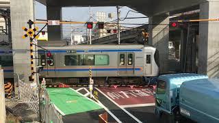 西鉄・筑紫通りの仮設踏切(雑餉隈駅付近) 2019年2月26日