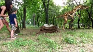 Дядя Жора парк с динозаврами. Видео для детей. Настоящие динозавры.