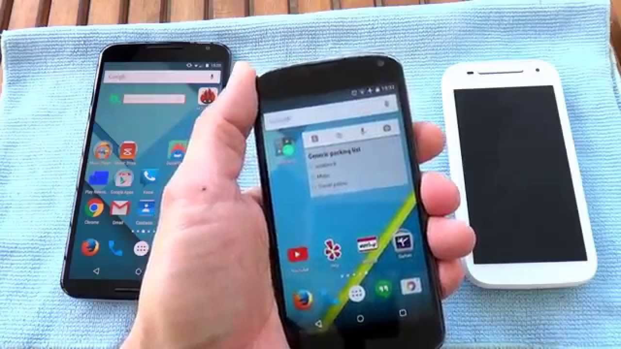 Nexus 6 vs Nexus 4 vs Moto E 2015 2nd Generation Size Comparison ...