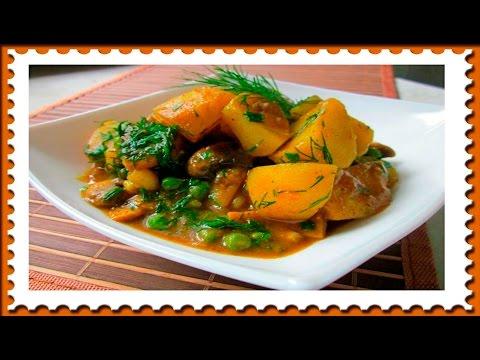 Соус с картошкой и грибами