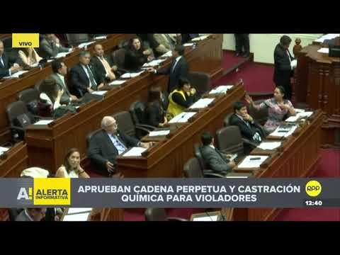 Congreso aprueba en primera votación castración química para violadores de niños